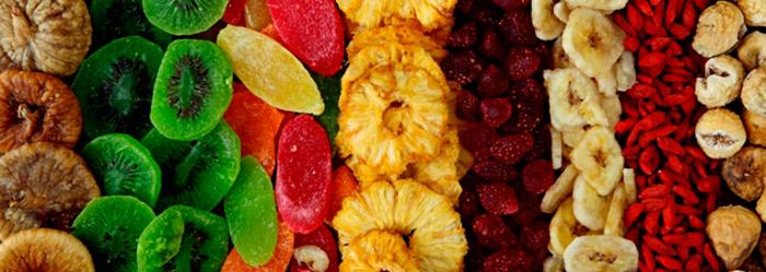 Сухофрукты и фрукты - прекрасная замена сахару