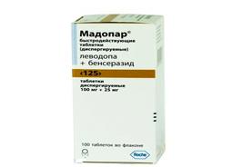 Мадопар быстродействующие таблетки 125