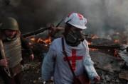 Украинские медики проверяют свои навыки в условиях, приближенных к реалиям Майдана